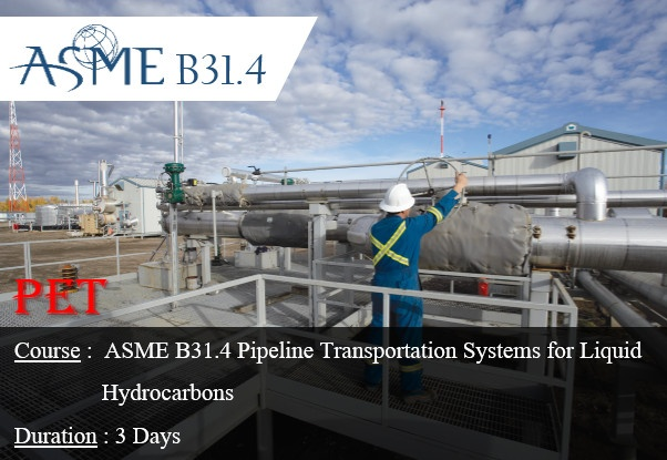 ASME/ANSI B31.4 Pipeline Transportation Systems for Liquid Hydrocarbons and Other Liquids (ME33)