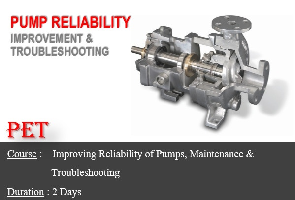 Improving Reliability of Pumps, Maintenance & Troubleshooting (ME49)