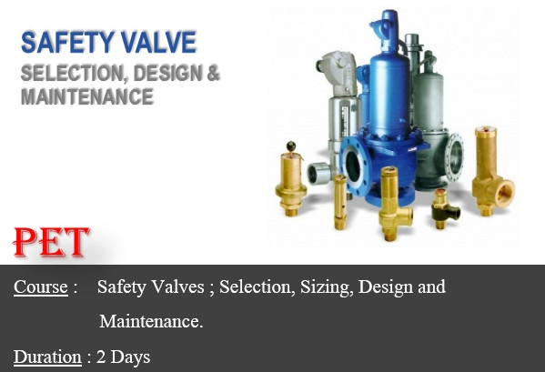 Safety Valves; Selection, Sizing, and Maintenance (ME18)