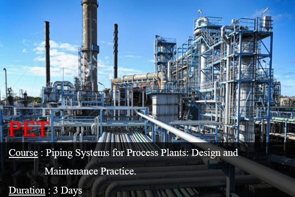 Piping Systems for Process Plants: Design and Maintenance Practice (ME16)